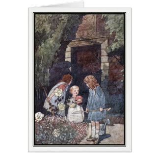 The Children's Garden by Charles Robinson Card