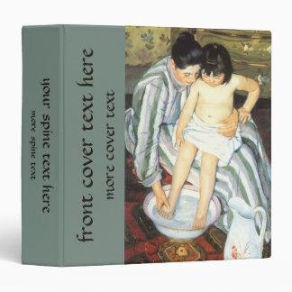 The Child's Bath by Mary Cassatt, Vintage Fine Art Binders