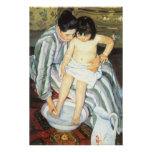 The Child's Bath by Mary Cassatt, Vintage Fine Art Print
