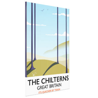 The Chilterns Great Britain travel poster Canvas Print