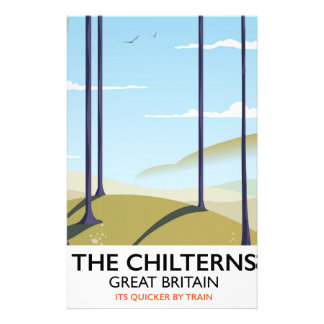 The Chilterns Great Britain travel poster Stationery