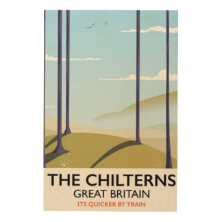 The Chilterns Great Britain travel poster Wood Canvases