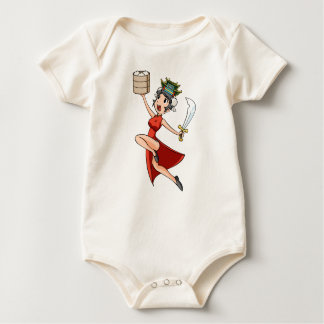 The China English story Yokohama Kanagawa Baby Bodysuit