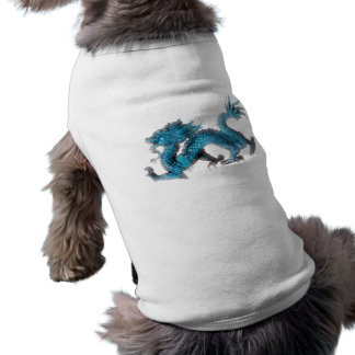 The chinese blue dragon dog tee