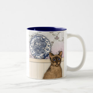 The Chinese Plate and Tibetan Cat Mug