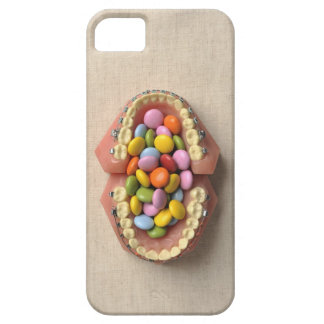 The chocolate served in the dental model case for the iPhone 5