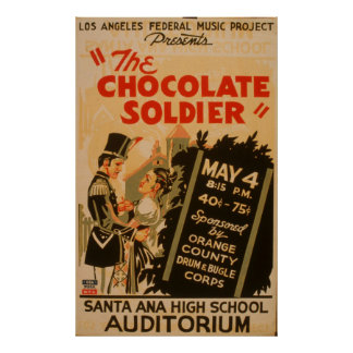 The Chocolate Soldier Vintage WPA Poster
