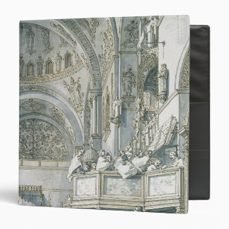 The Choir Singing in St. Mark's Basilica, 3 Ring Binder