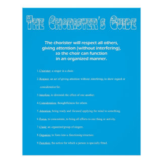The Chorister s Guide Posters