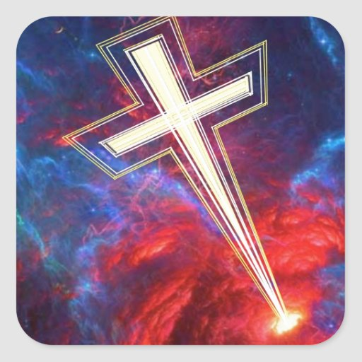 The Chrisian Cross,... out of The Heavens. Stickers