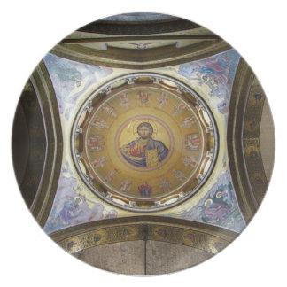 The Christ Pantocrator mosaic Dinner Plate