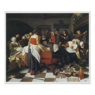 The Christening Feast, 1664 Jan Steen Poster