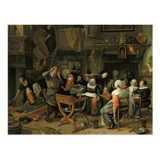 The Christening Feast, 1668 Postcard