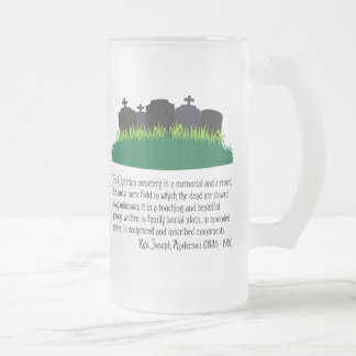 The Christian Cemetery 16 Oz Frosted Glass Beer Mug