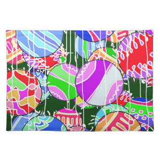The Christmas balls. Placemat