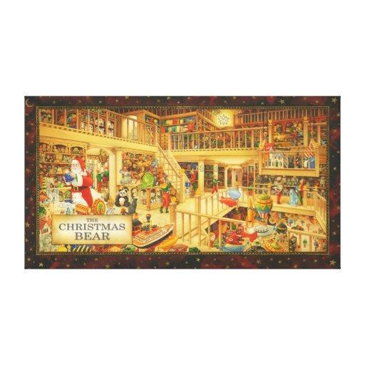The Christmas Bear - Christmas Art Gallery Wrap Canvas