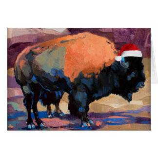 The Christmas Bison Customizable Card