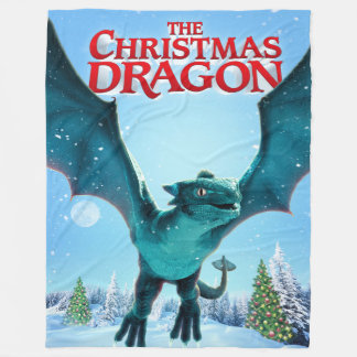 The Christmas Dragon - Fleece Blanket