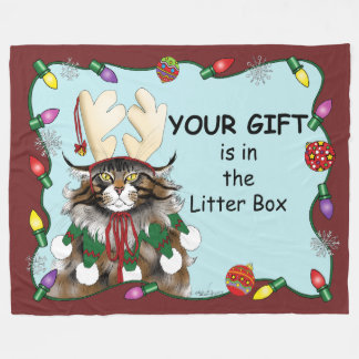 The Christmas Gift Fleece Blanket