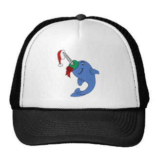 The Christmas Narwhal Mesh Hat