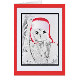 The Christmas Owl Card