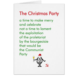 The Christmas Party - a funny Christmas poem Card