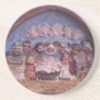 "'THE CHRISTMAS STABLE"" BEVERAGE COASTERS"