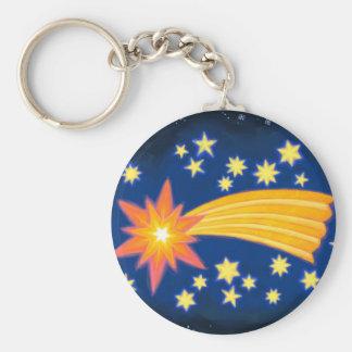 The Christmas Star Basic Round Button Keychain