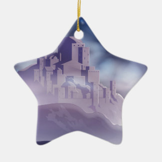 The Christmas Star of Bethlehem Illustration Ceramic Ornament