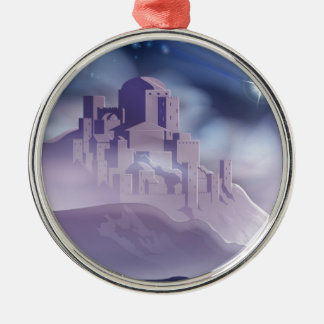 The Christmas Star of Bethlehem Illustration Metal Ornament