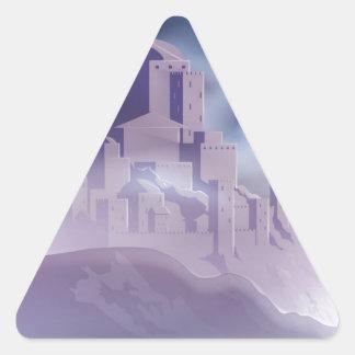 The Christmas Star of Bethlehem Illustration Triangle Sticker