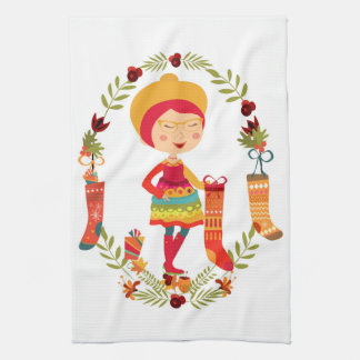 The Christmas Stocking Maker Hand Towels