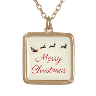The Christmas Theme I Gold Plated Necklace
