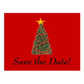 The Christmas Tree, Save the Date! Postcard