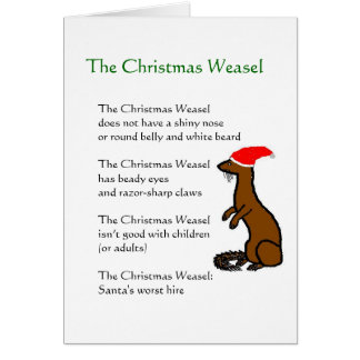 The Christmas Weasel Card