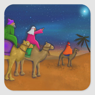 The Christmas Wise Men Square Sticker