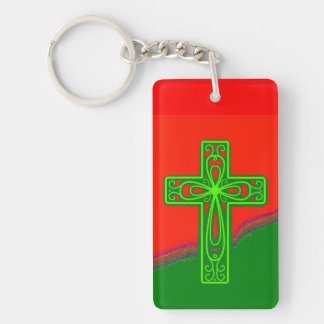 The Chritsian Cross and John 3:16 Key Chain