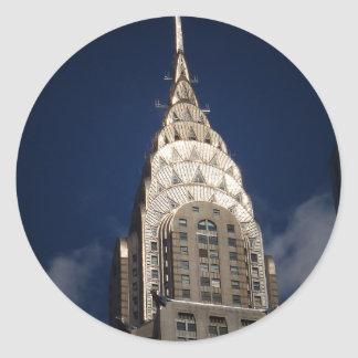 The Chrysler Building, New York City Classic Round Sticker