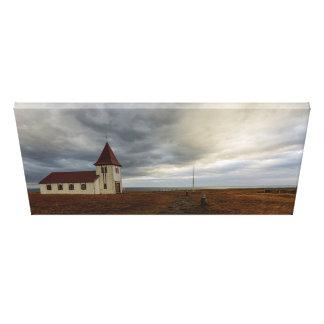 The Church at Hellnar Canvas Print