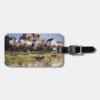 The Church At Vetheuil by Claude Monet Bag Tag