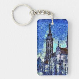 The Church Vincent Van Gogh Keychain