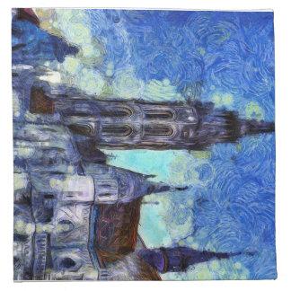 The Church Vincent Van Gogh Napkin