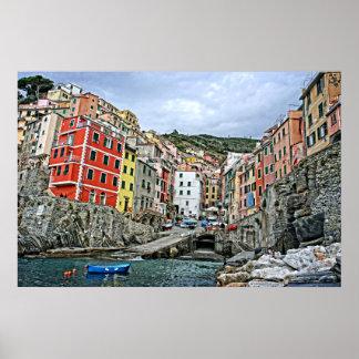 The Cinque Terre - Riomaggiore, Italy 24x36 Poster