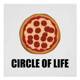 The Circle Of Life Pizza Poster