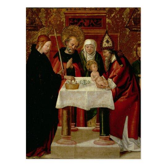 The Circumcision Presentation in the Temple Postcard