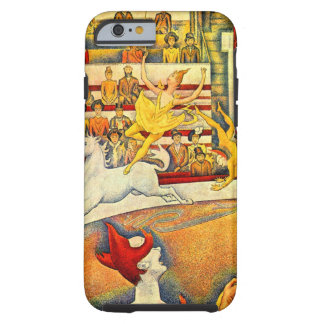 The Circus by Georges Seurat, Vintage Pointillism Tough iPhone 6 Case