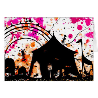 the circus came to town card