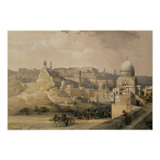 """The Citadel of Cairo, from """"Egypt and Nubia"""" Poster"""