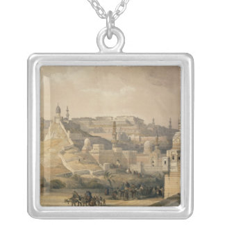 """The Citadel of Cairo, from """"Egypt and Nubia"""" Silver Plated Necklace"""