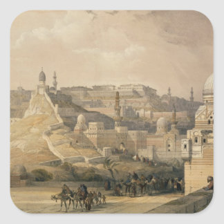 """The Citadel of Cairo, from """"Egypt and Nubia"""" Square Sticker"""